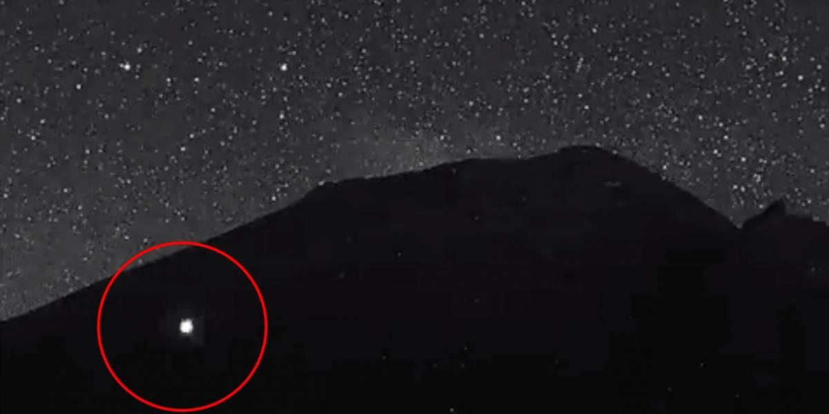 Cámaras captan un OVNI en el volcán Popocatépetl