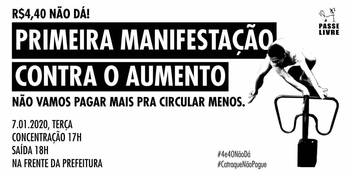 Movimento Passe Livre faz ato nesta terça em São Paulo contra aumento na tarifa do transporte