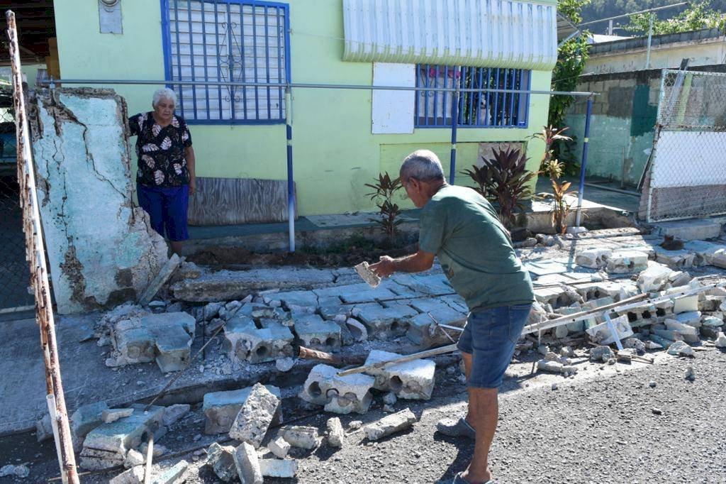 Destrozos en Guánica tras fuerte sismo de 6.4 grados