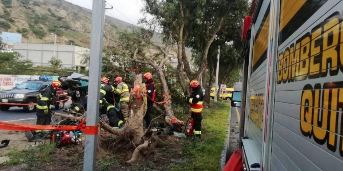 Accidente de tránsito se registró en el norte de Quito