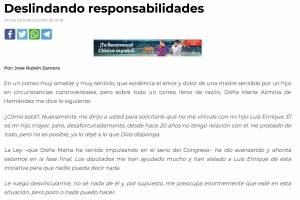 Carta mamá Luis Hernández Azmitia
