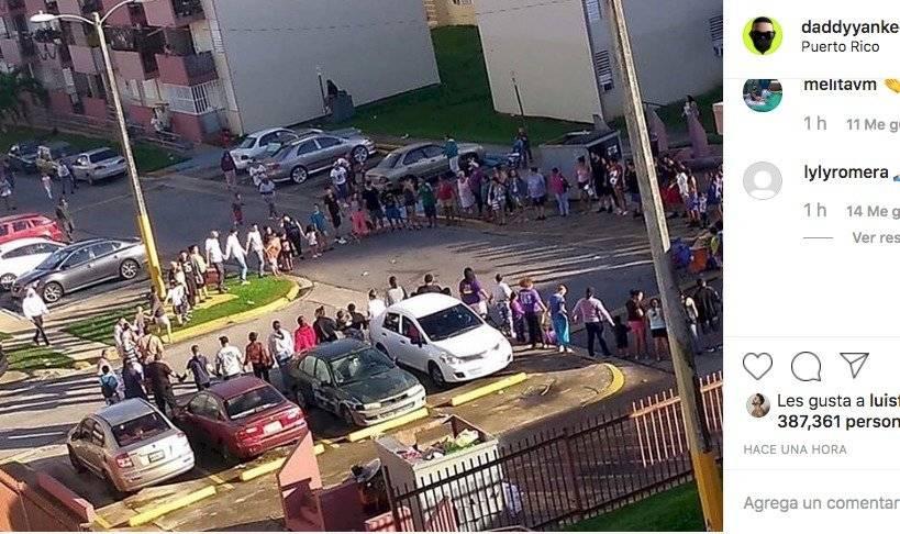 La reacción de Daddy Yankee tras sismo de 6.6 en Puerto Rico