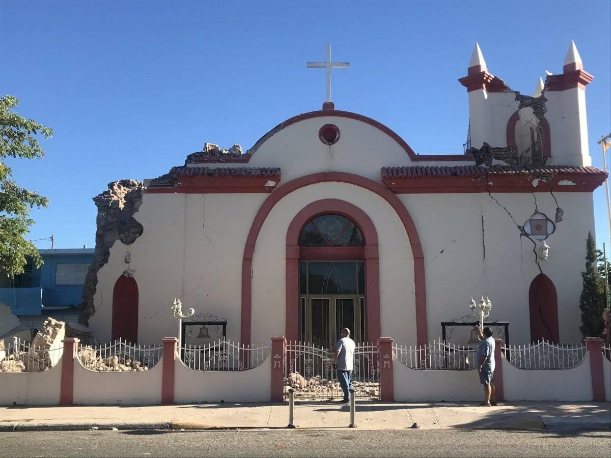 Iglesia de Puerto Rico destruída tras sismos