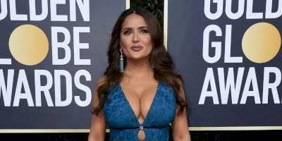 Salma Hayek se robó los Globos de Oro 2020 con su look