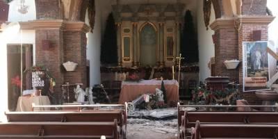 derrumbe en la Iglesia de Guayanilla tras fuerte sismo