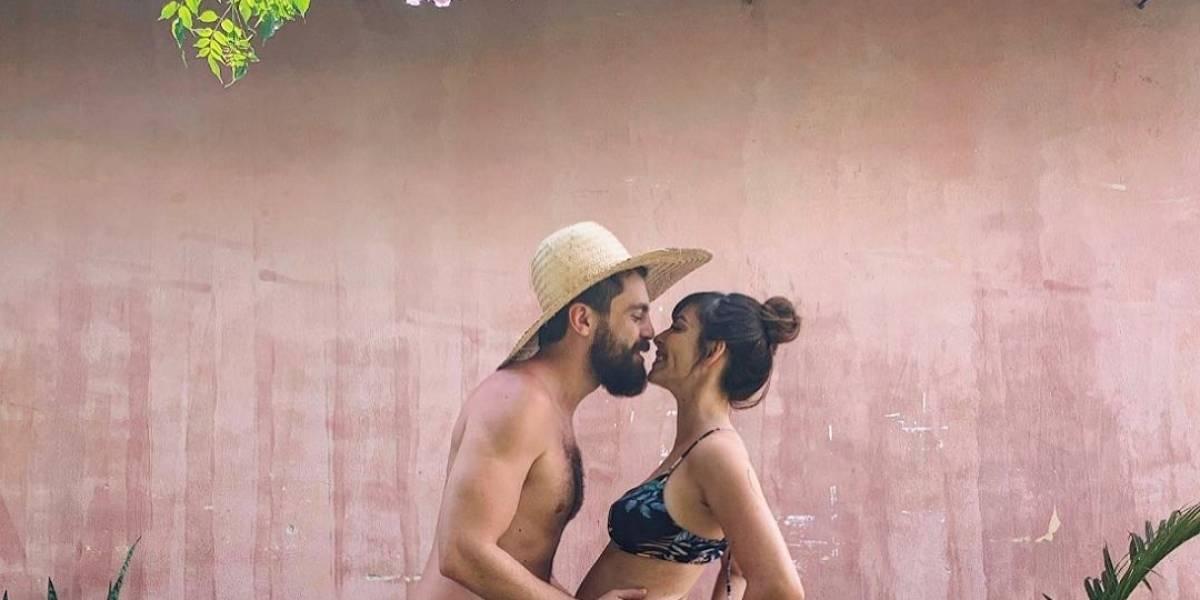 Titi Müller comemora gravidez com marido Tomás Bertoni