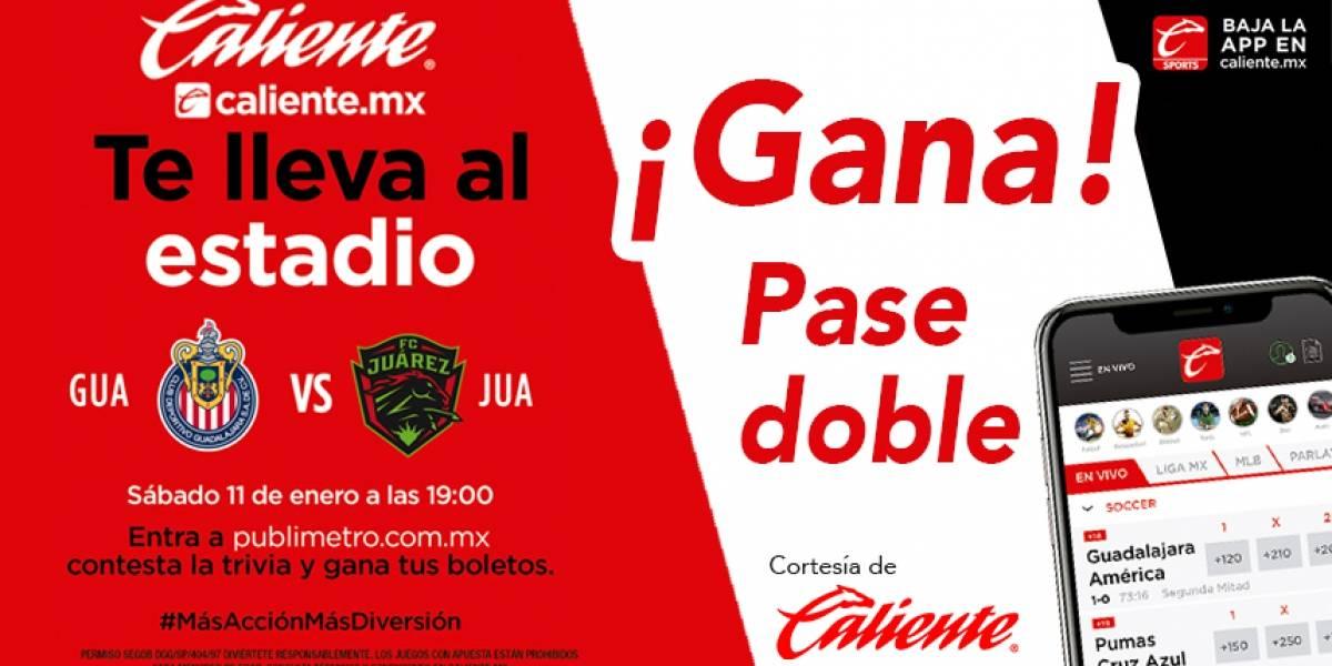 ¡Gana! pase doble para el partido Chivas vs Juarez