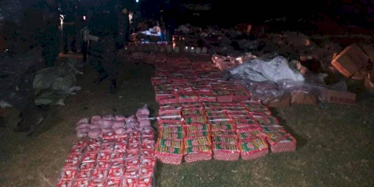 Decomisan piel de cerdo y embutidos de contrabando en Quetzaltenango