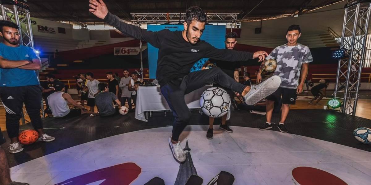 El fútbol freestyle se robó todas las miradas en la Feria de Manizales