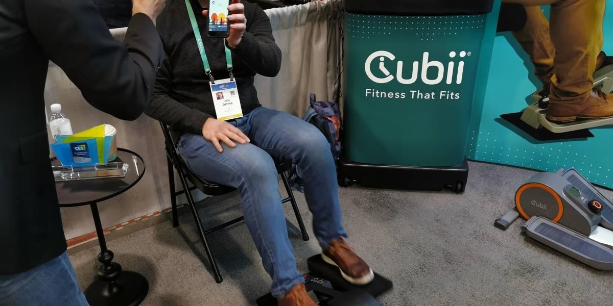 Bicicleta elíptica para piernas te ayuda a ejercitar cuando estas sentado #CES2020