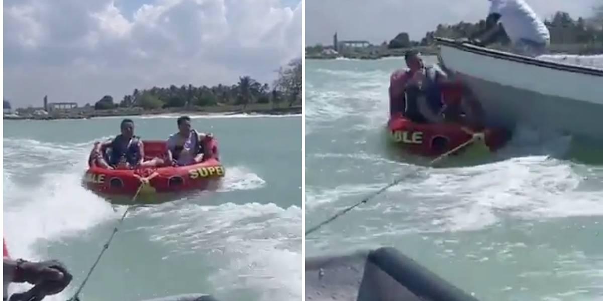 (VIDEO) Lancha arrolló a dos turistas en Barú y los dejó gravemente heridos