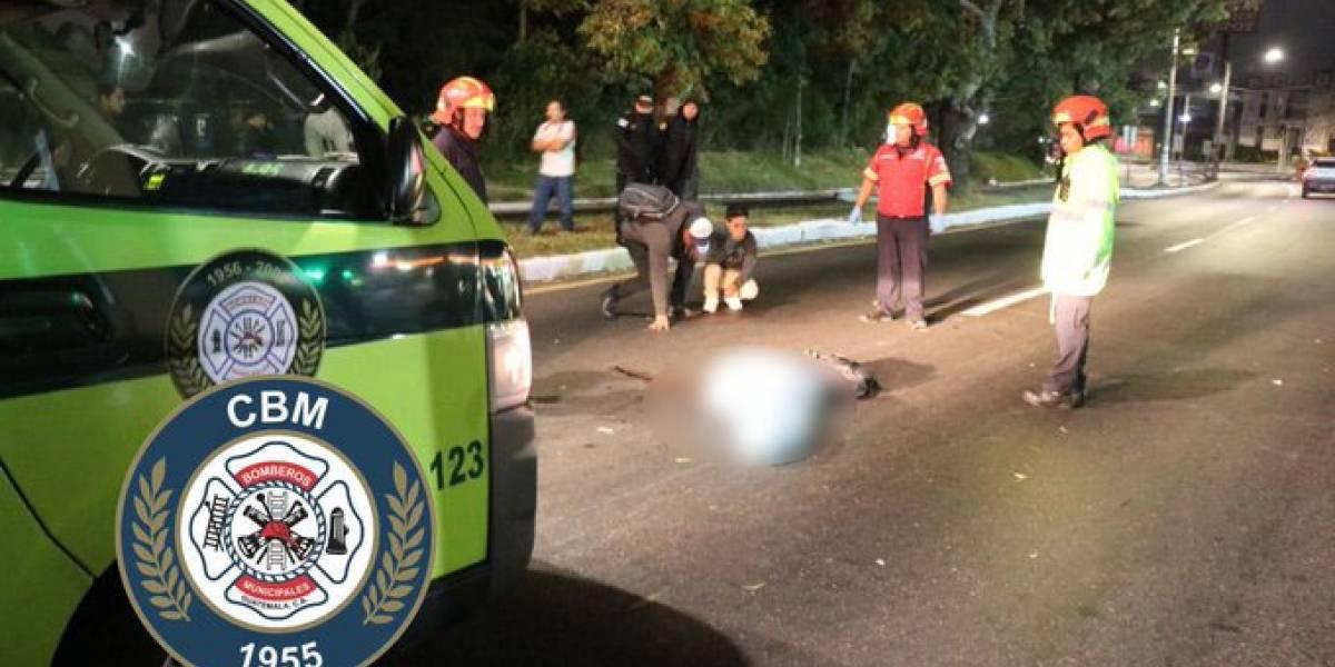 Hombre muere atropellado en ruta a El Salvador