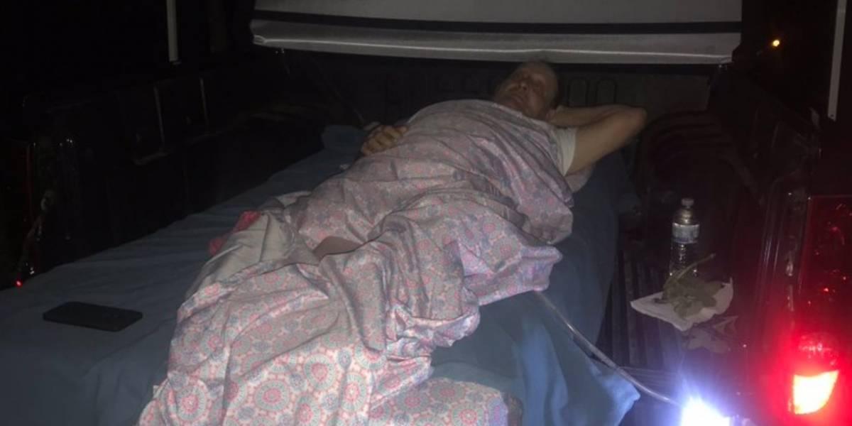 Octogenario lleva dos noches postrado en baúl de pick-up en Yauco