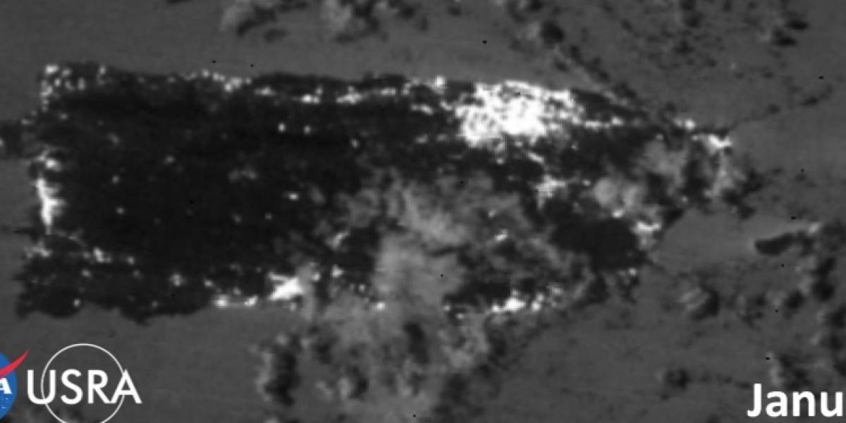 Impresionante imagen satelital de la NASA muestra zonas sin luz en la isla