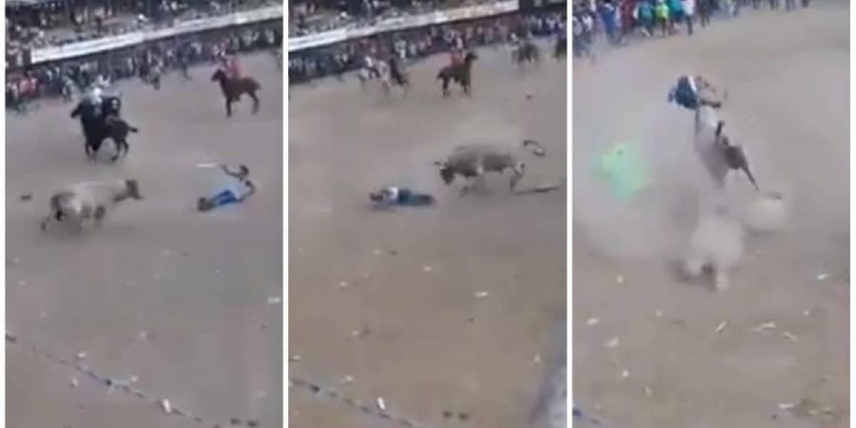 (Video) Banderillero murió en corralejas de San Pedro por un toro que lo embistió