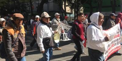 Manifestantes en Insurgentes