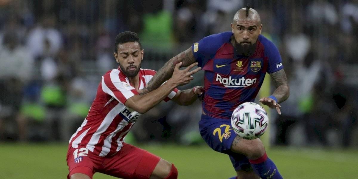 Arturo Vidal fue víctima del VAR y el Barcelona quedó fuera de la Supercopa de España ante el Atlético Madrid