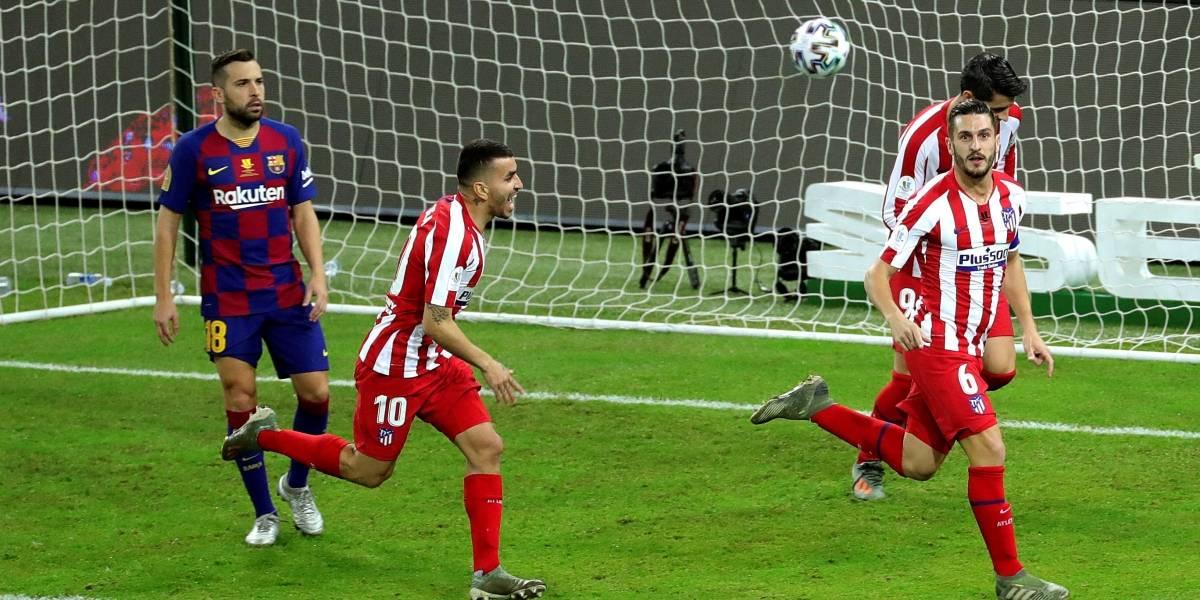 ¡De locos! Atlético eliminó al Barcelona en un partido que tuvo de todo (2-3)