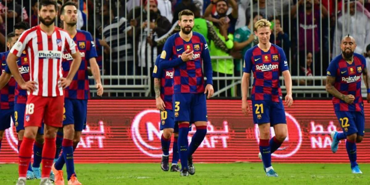 Atlético vence a Barcelona y jugará final ante el Madrid