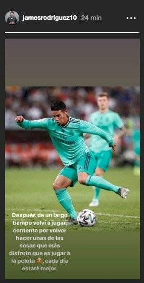 James Rodríguez sobre su vuelta a las canchas en 2020