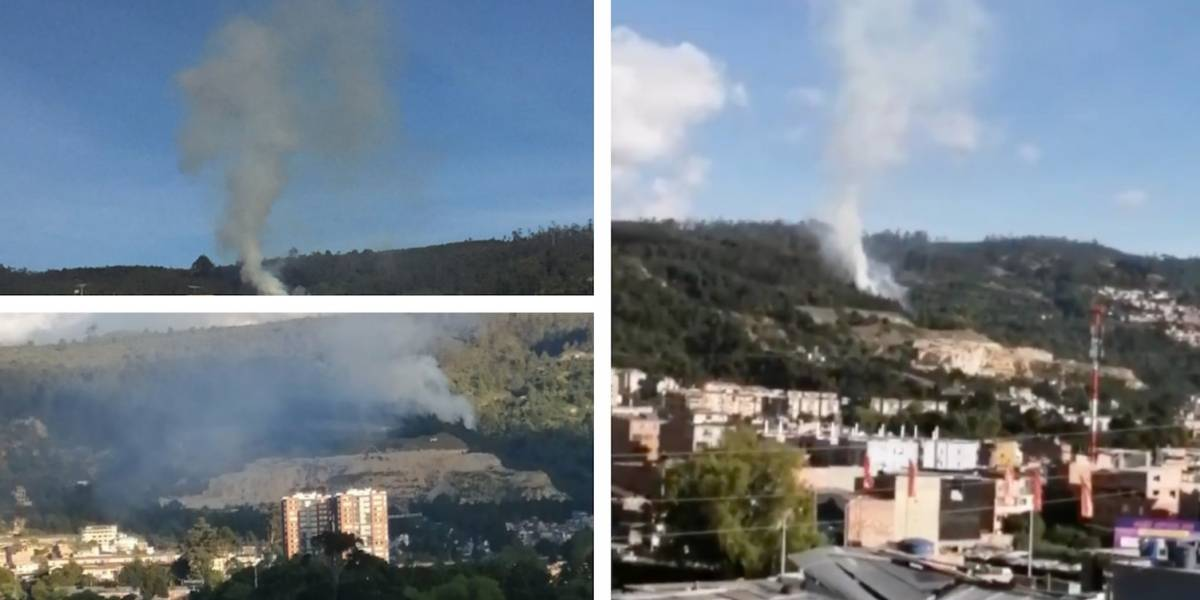 (Imágenes) Fuerte incendio azota los Cerros, en el norte de Bogotá