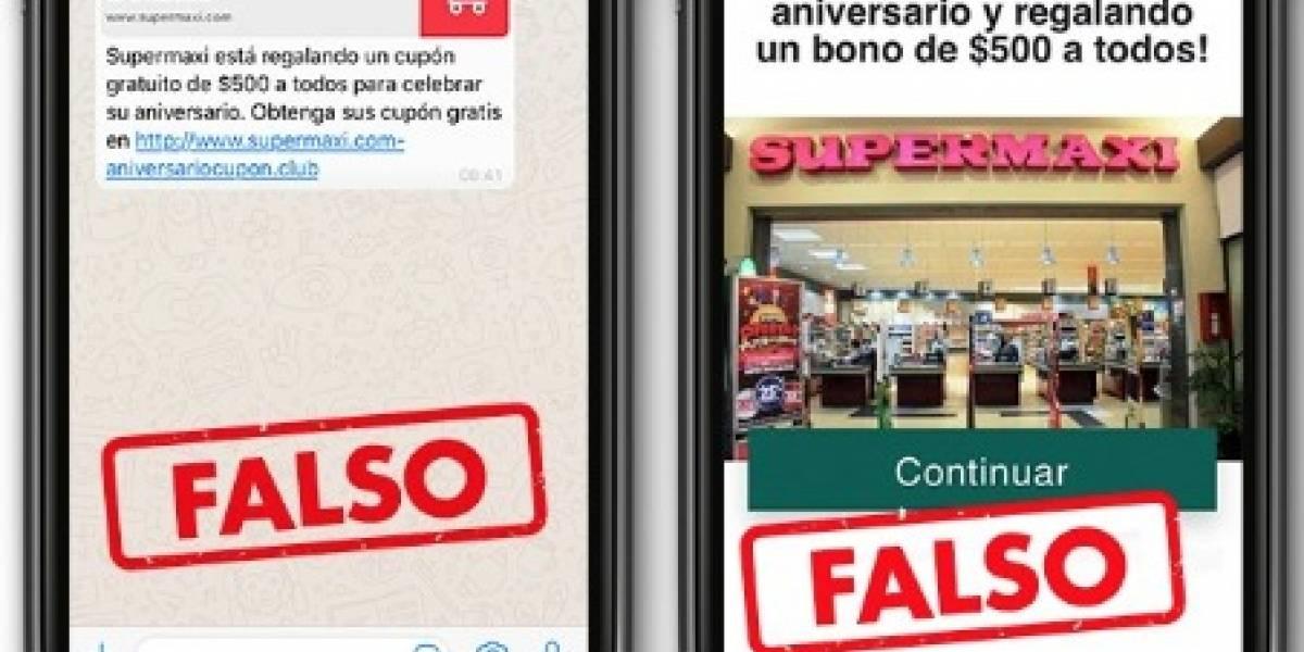 Supermaxi y Megamaxi desmienten promoción de bonos de USD 500 que circula en redes sociales