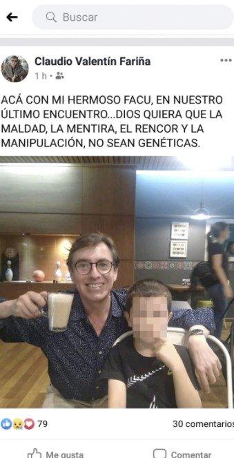 Claudio Fariña y su hijo