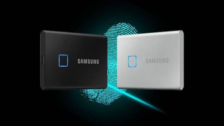 Resultado de imagen para 7 Touch: el disco duro SSD de Samsung que se desbloquea con tu huella digital CES2020