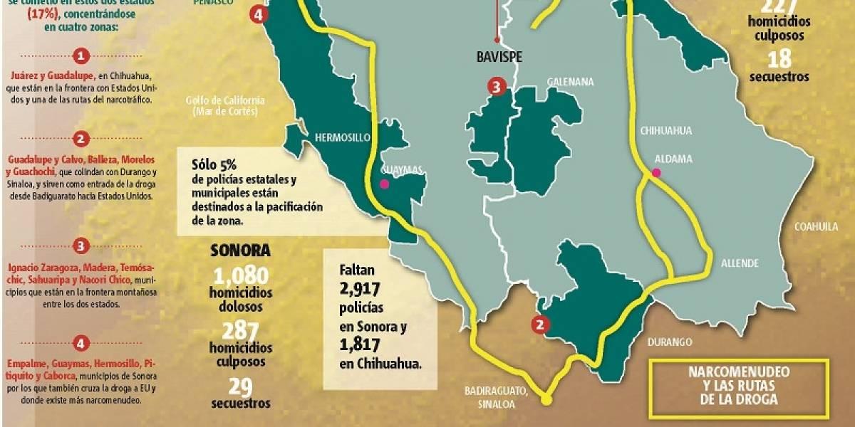 México: La ruta de la droga por Sonora y Chihuahua