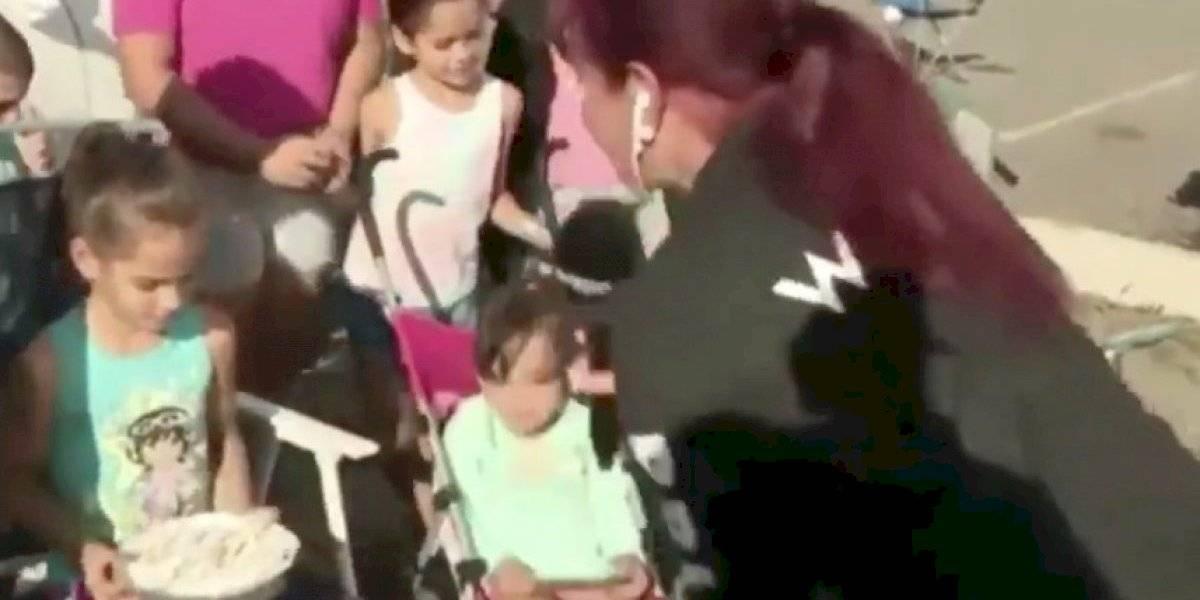 Periodista celebra cumpleaños de una niña en refugio de Yauco
