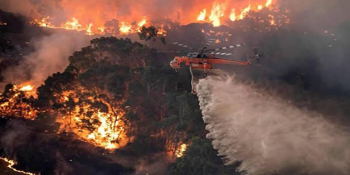 Australia: Así se ven los incendios desde el espacio