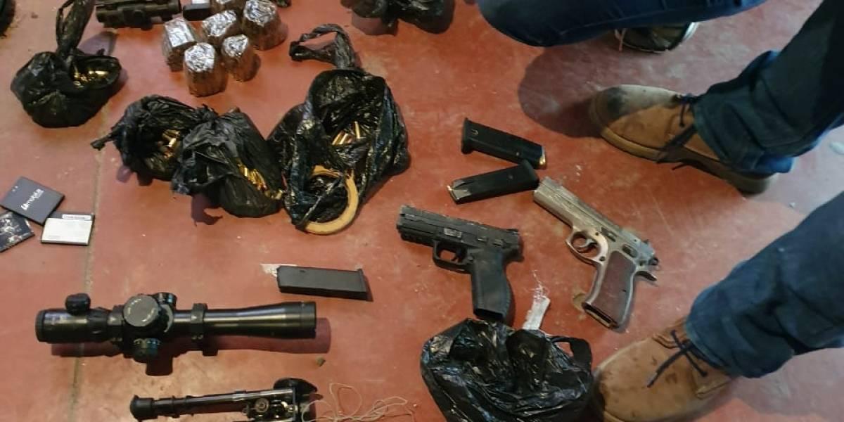 Decomisan armas y municiones en operativo contra extorsiones