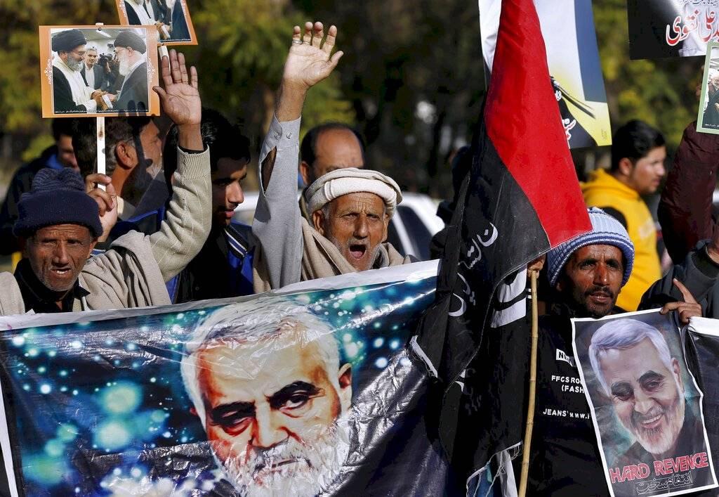 Manifestaciones por la muerte del general Soleimani en Irak