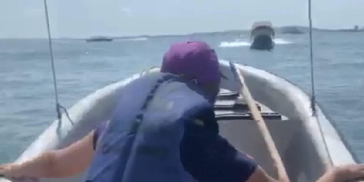 (Video) Dos lanchas con turistas chocaron en Cartagena