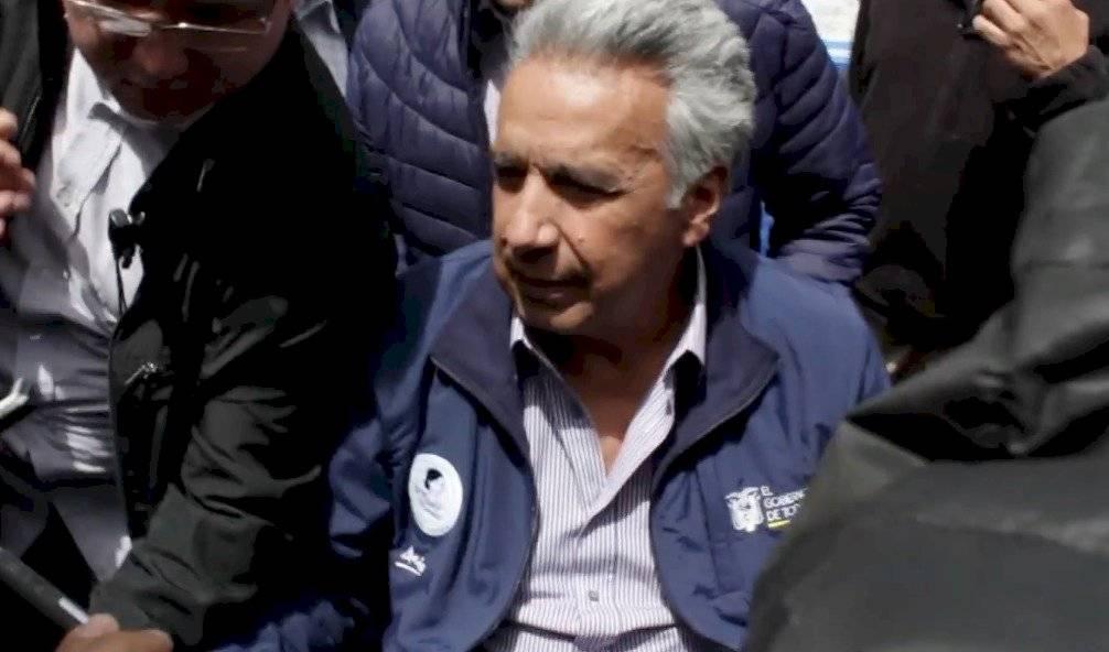 Video: Se registran incidentes durante la visita del Presidente a Cuenca