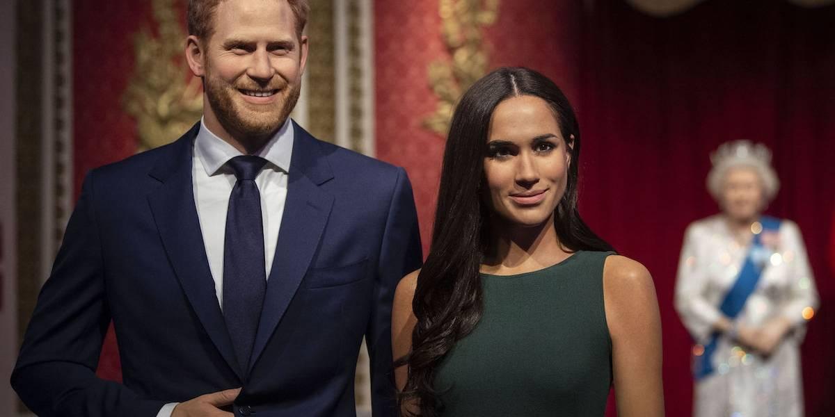 Meghan Markle y Harry fueron sacados del cuadro familiar en el Museo de Cera de Londres