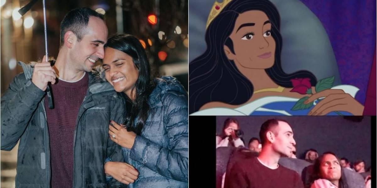 Homem insere a si mesmo em 'A Bela Adormecida' para pedido de casamento que emocionou internet