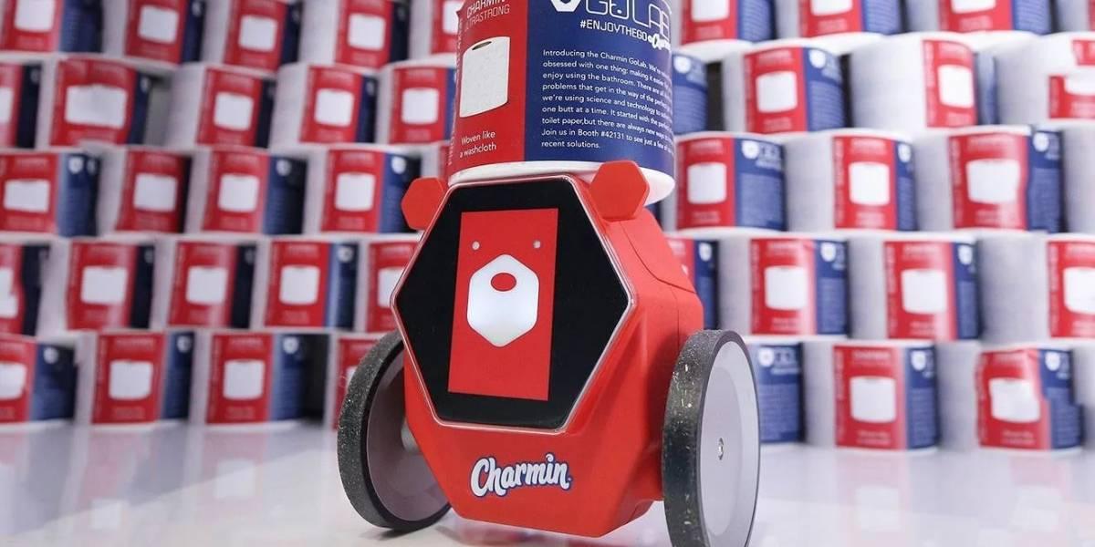 Rollbot, el robot que trae el papel higiénico debutó en la #CES2020