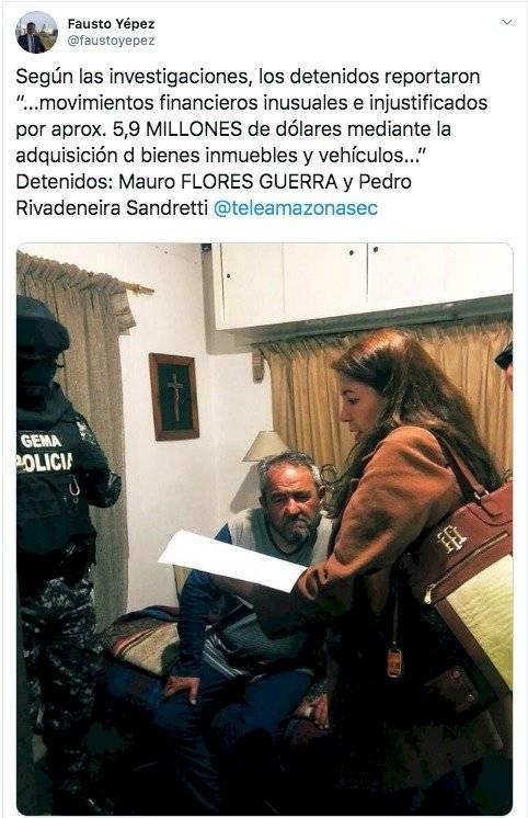 Detención de padre de Gabriela Rivadeneira durante la madrugada del viernes 10 de enero en Otavalo