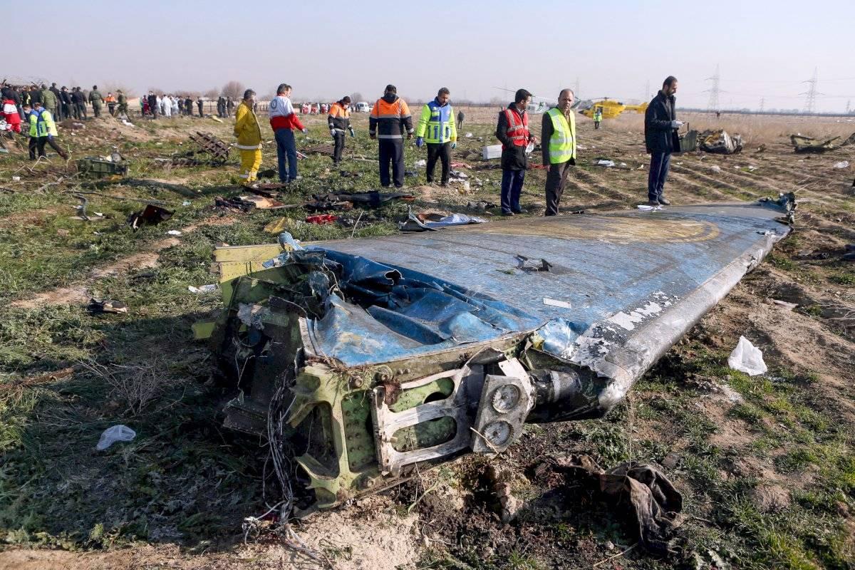 Avión ucraniano estrellado en Teherán