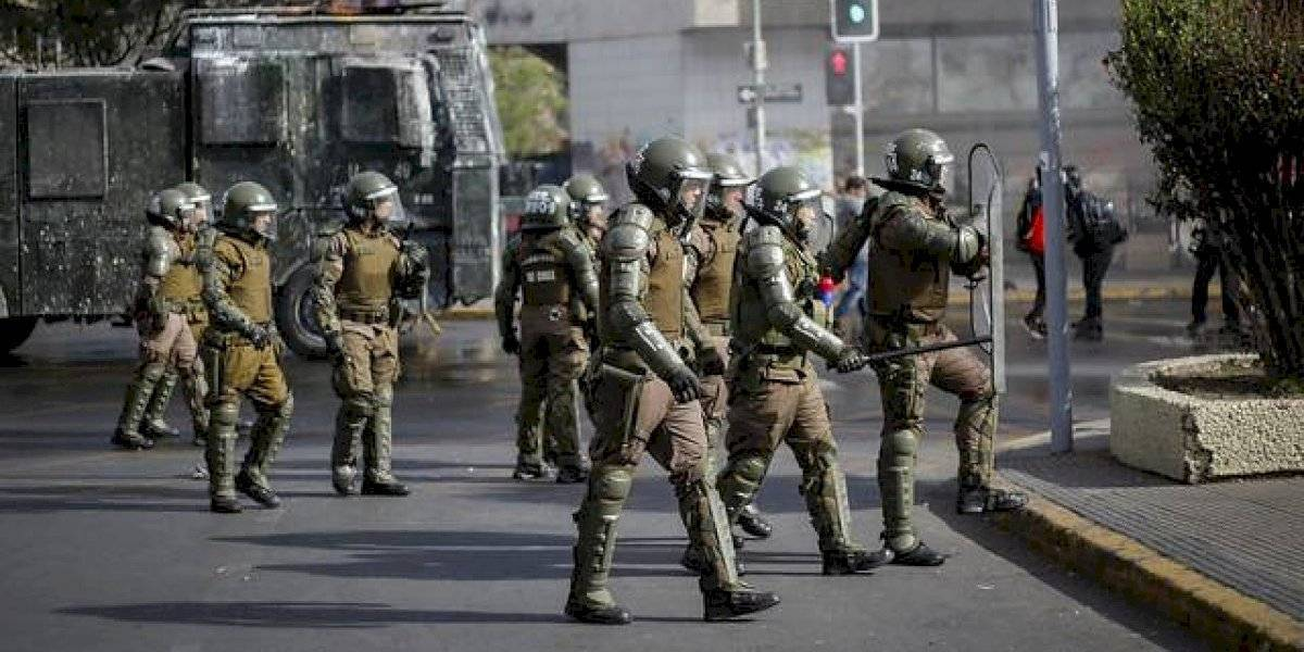 Fiscal investiga incidente de carro lanzaaguas policial con manifestantes