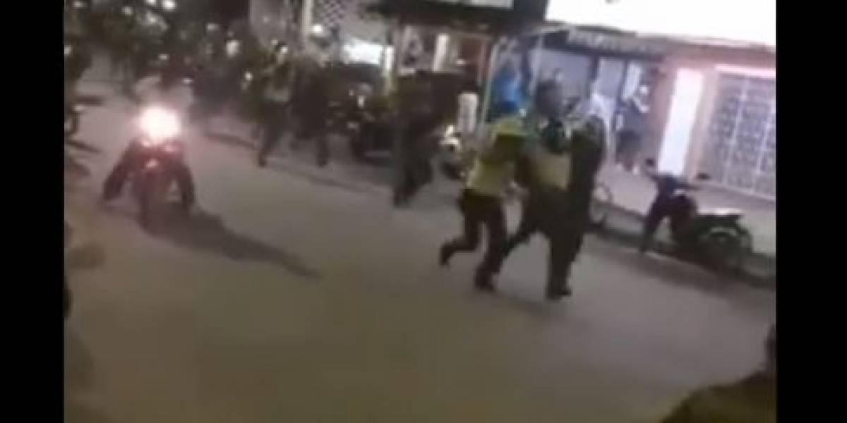 Captura de presunto violador terminó balacera y con Policías heridos