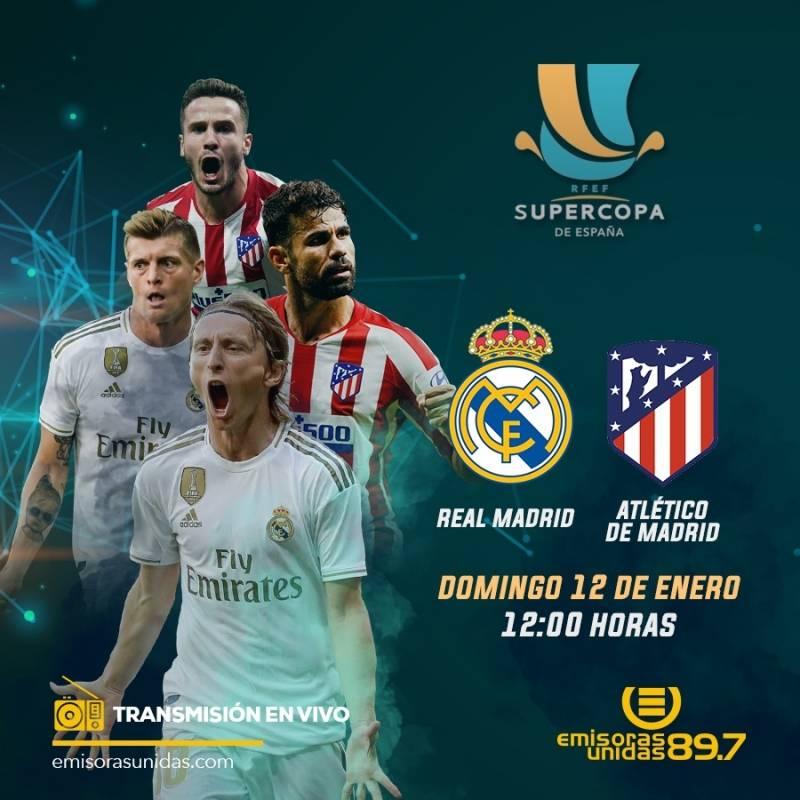 La final de la Supercopa de España se juega este domingo a las 12:00 horas