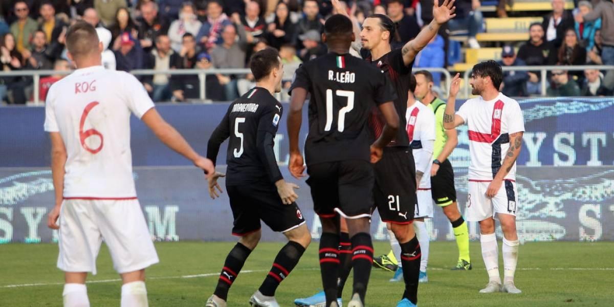 Ibrahimovic deja su sello con el Milan con su primer gran gol