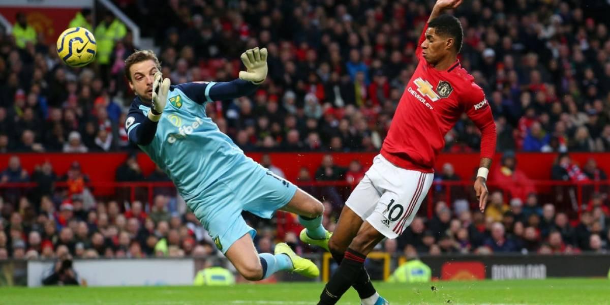 Manchester United despierta y golea al Norwich