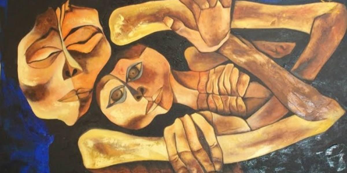 Las pinturas de Oswaldo Guayasamín se exhiben en la India
