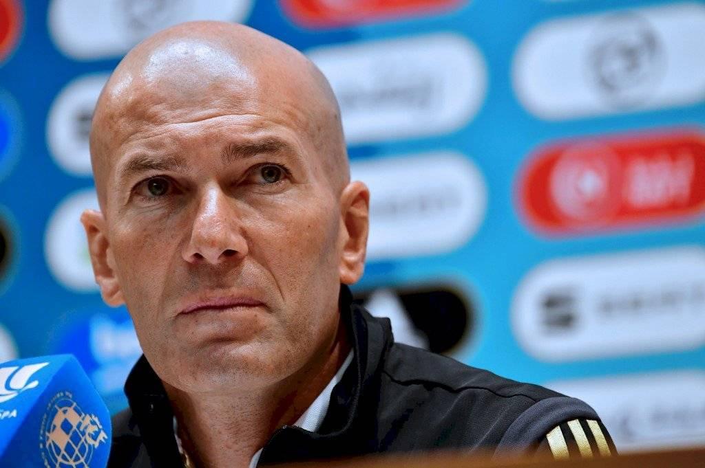 Foto AFP   Zinedine Zidane durante la conferencia de prensa en Arabia Saudita