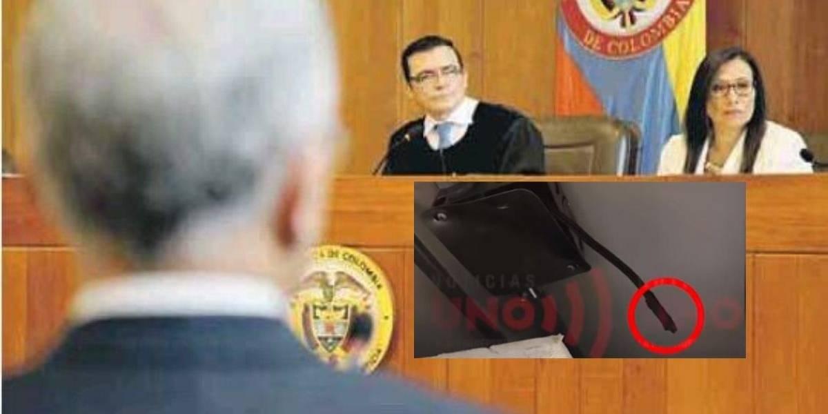 Micrófonos en despacho del magistrado Reyes pertenecían a Compensar