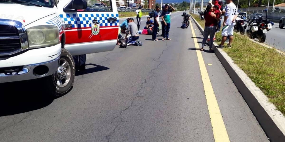 Una pareja falleció tras accidente de motocicleta el 12 de enero en Quito