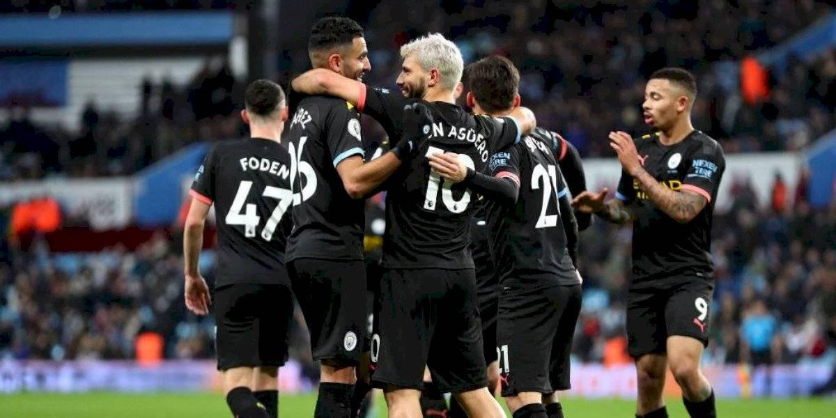 Kun Agüero hizo historia en contundente goleada del City sobre el Aston Villa